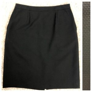 Talbots classic textured cotton knit  lined skirt